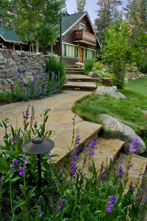 Rustic Landscape by Denver Landscape Architects & Landscape Designers Lifescape Colorado.