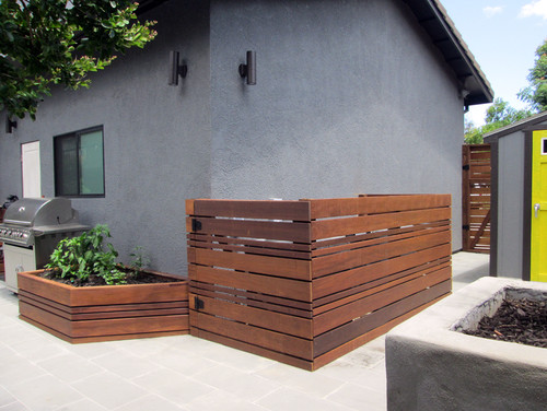 12 Enclosure Ideas for Garbage Bins, Compost Piles and AC