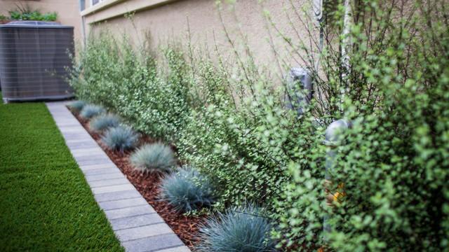 Mow Strip And Planter Bed Modern Landscape Orange