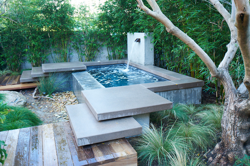 Inspiration for a mid-sized modern partial sun backyard landscaping in San Diego for spring.