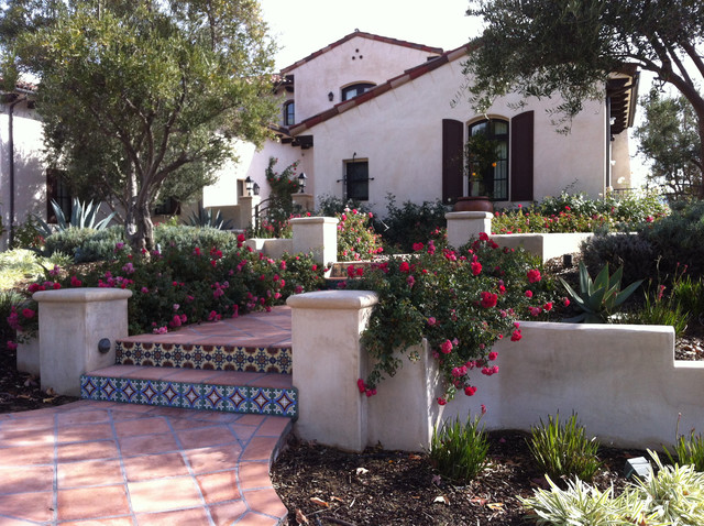 My garden spanish revival mediterranean landscape for Spanish garden designs