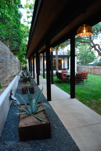 My Houzz: A Dream Home Grows From an Empty Austin Lot - Contemporary - Landscape - Austin - by Kara Mosher