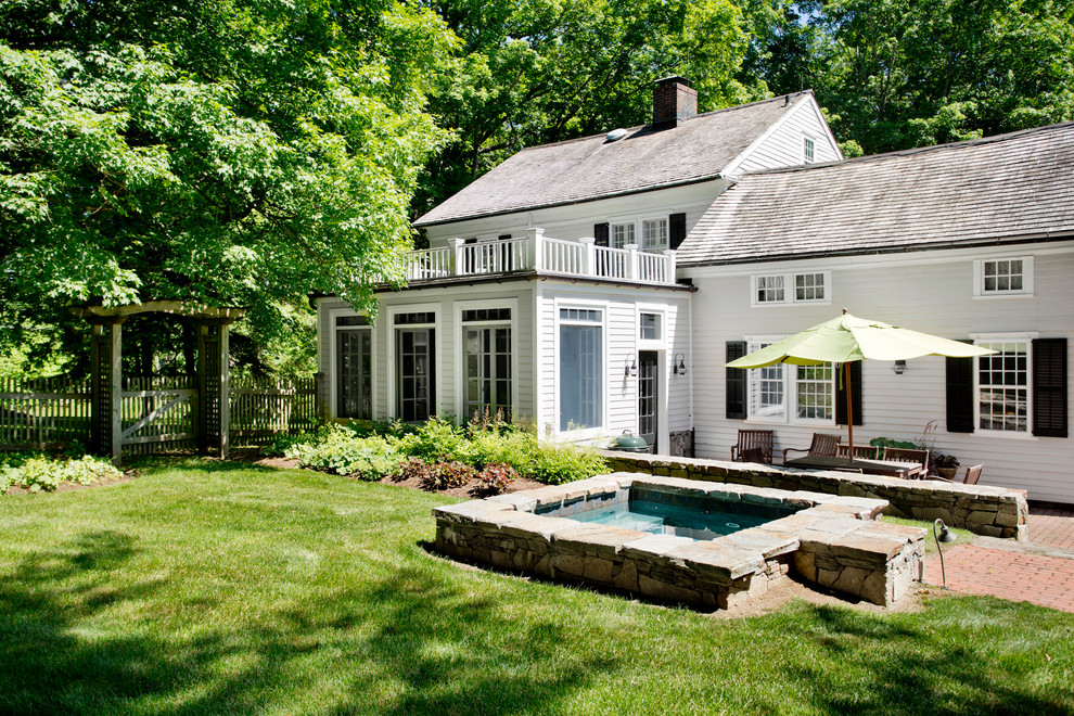 my houzz classic garden style for a 1745 connecticut