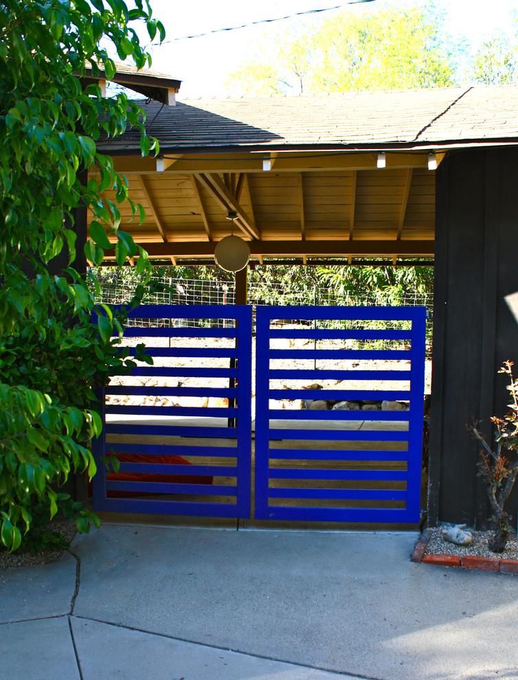 Inspiration for a contemporary garden path in Santa Barbara.