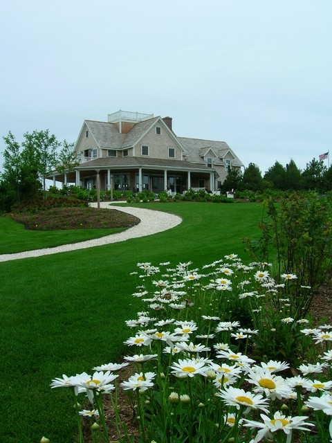 Nantucket guest house beach style landscape other for Beach house landscaping