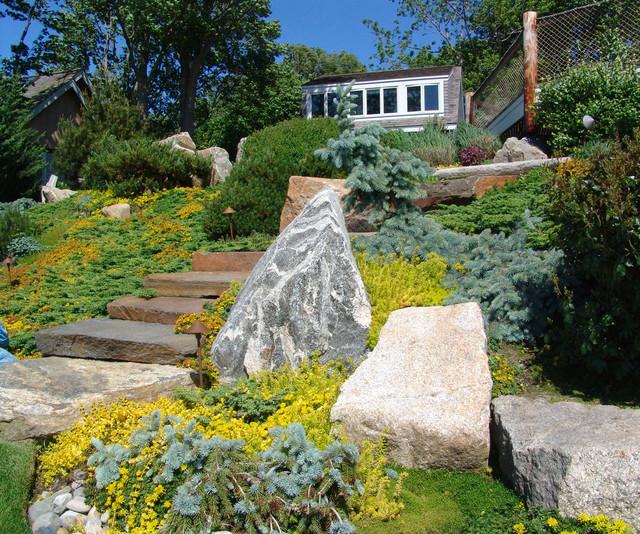 Narragansett Bay Overlook Gardens-Hillside Gardens asian-landscape