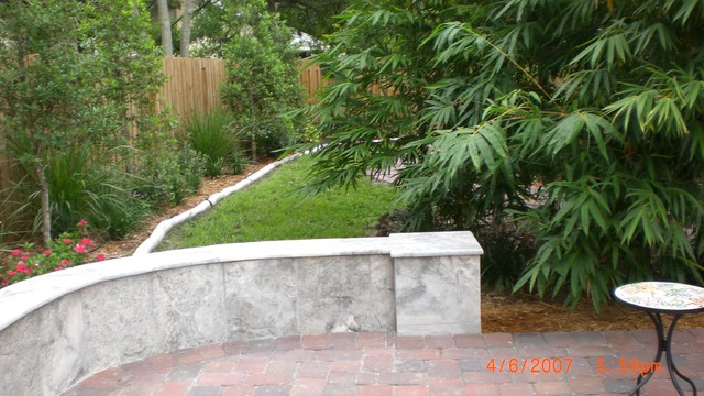 Narrow Side Yard Tropical Landscape Tampa