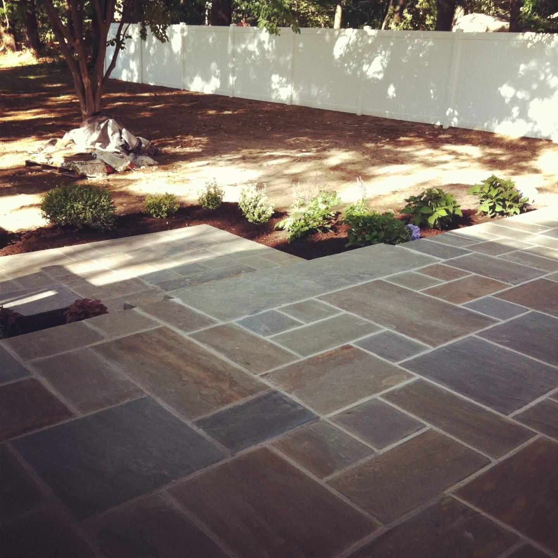 natural bluestone patio's and bluestone walkway and steps