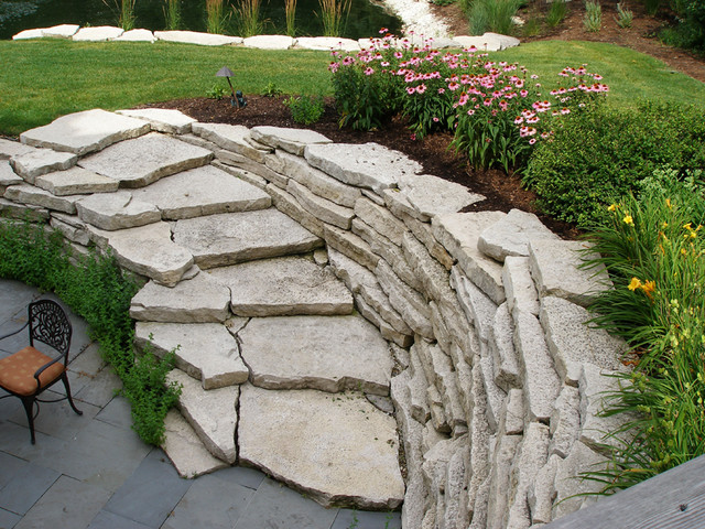 Hyams Landscaping And Garden Center : Natural stone landscaping including flagstone and
