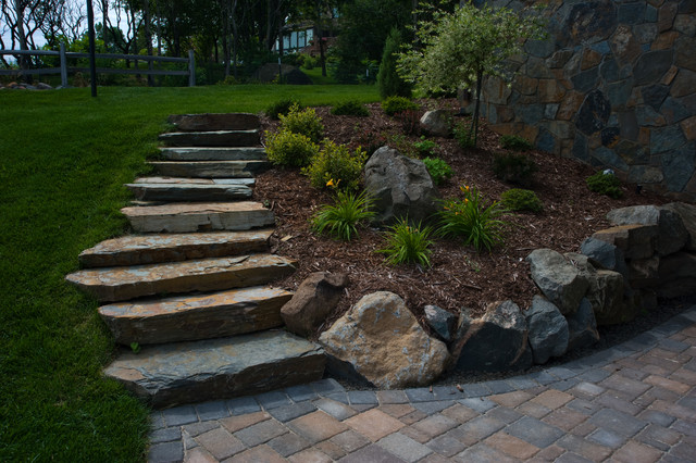 Natural Stone Stairs : Natural stone stairs