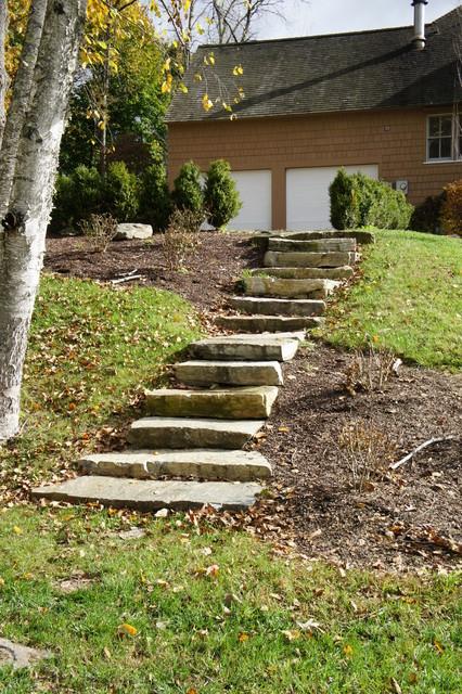 Natural Landscaping Steps : Natural stone steps