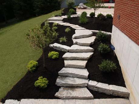 Natural Stone Steps traditional-landscape