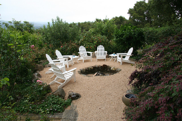 Naturalistic, Stone Firepit traditional-landscape