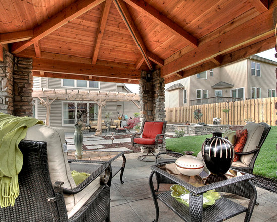 Fire Pit Gazebo Plans http://www.houzz.com/Outdoor-Kitchen-Gazebo