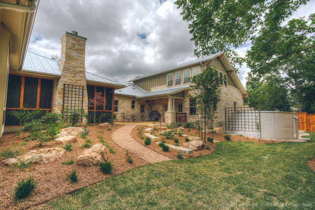 New Craftsman In Old Town; Back Yard Xeriscape. - Traditional - Landscape - Austin - By J ...