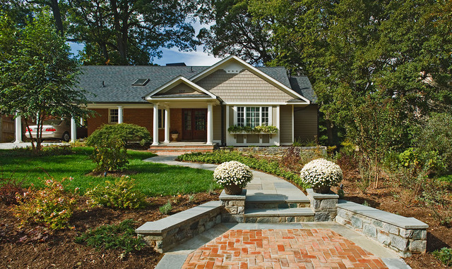 New Facade To Ranch Style Home Traditional Landscape