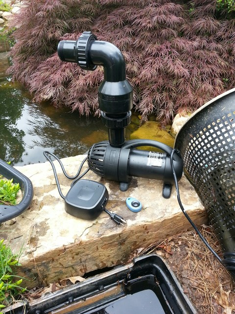 new koi pond pump installation landscape atlanta by