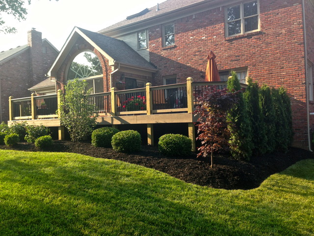 Images Of Landscaping Around Deck : New landscaping around deck traditional landscape louisville