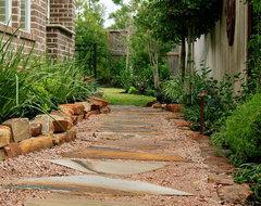 New Orleans Style Backyard Garden traditional-landscape