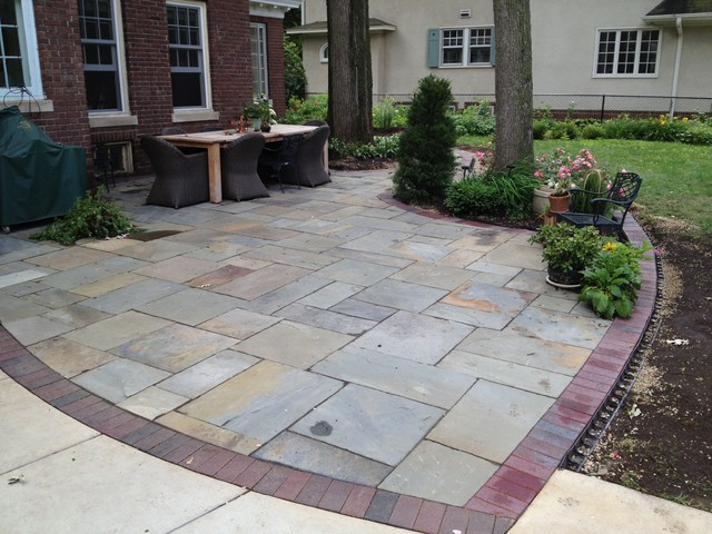 New York Bluestone Patio In Minneapolis Traditional