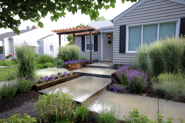 Newapproach modern landscape salt lake city by for Modern front garden design