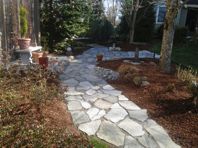 Backyard Landscaping Newcastle : Newcastle garden makeover rustic landscape seattle