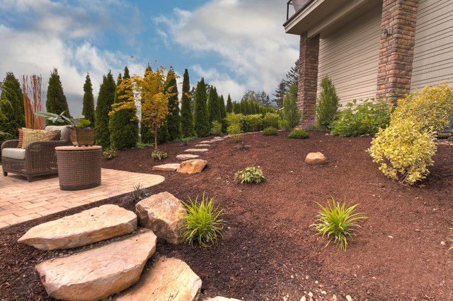 Nguyen contemporary landscape portland by paradise for Paradise restored landscaping exterior design