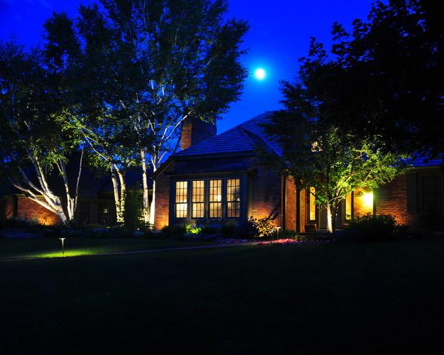 Night Lighting Ambiance Klisk Trädgård Denver Av