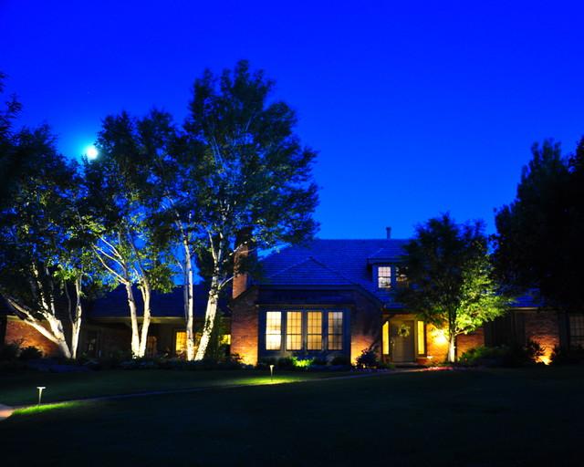 Night Lighting Ambiance traditional-landscape
