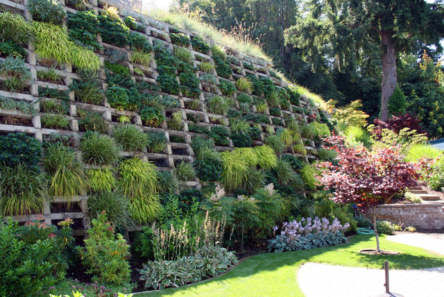 Inspiration For A Contemporary Backyard Landscaping In Seattle.