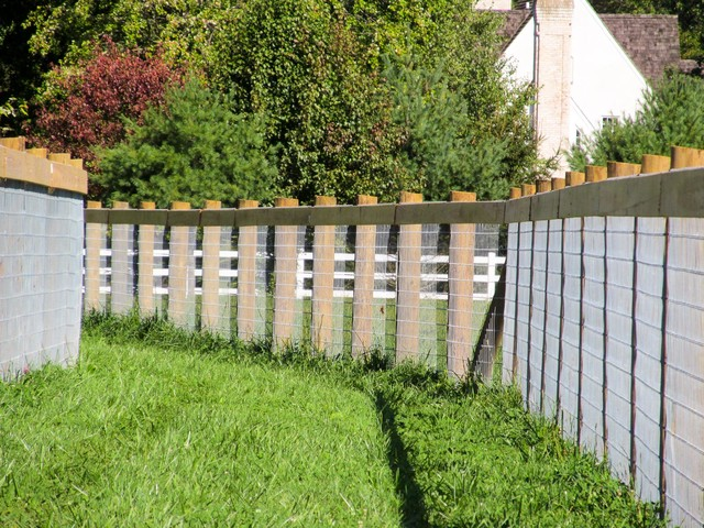 No climb wire horse fence traditional landscape dc