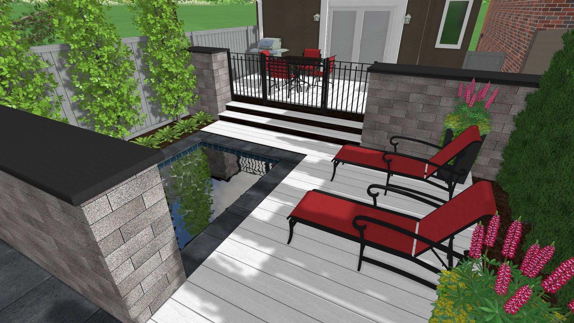 Nobleton Backyard Plunge Pool