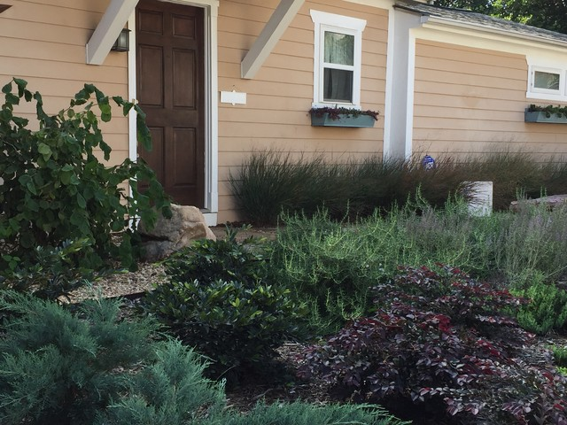 This is an example of a traditional landscaping in Charlotte.