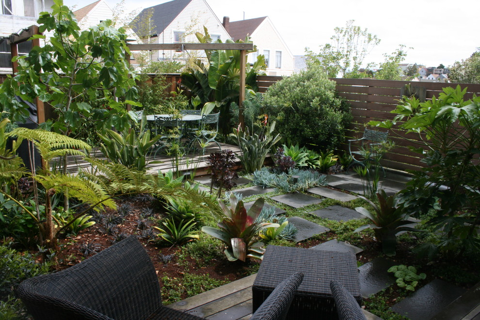 This is an example of a modern shade stone landscaping in San Francisco.