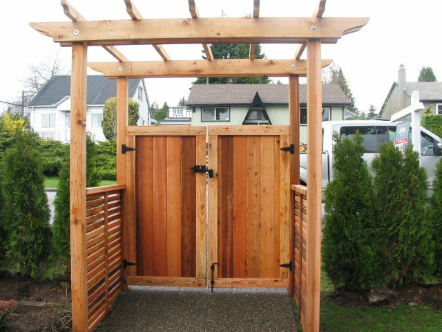 North Vancouver fence we dubbed Lonsdale style contemporary-landscape