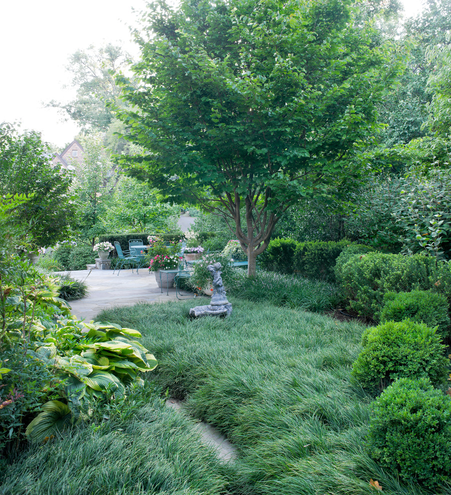 Inspiration for a traditional backyard formal garden in DC Metro.