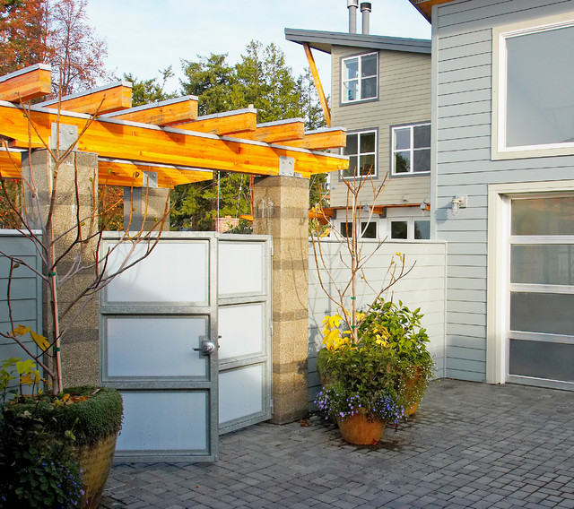 Fence Gate Design Ideas: Courtyard Gate. The Hannon Residence Is In The Background