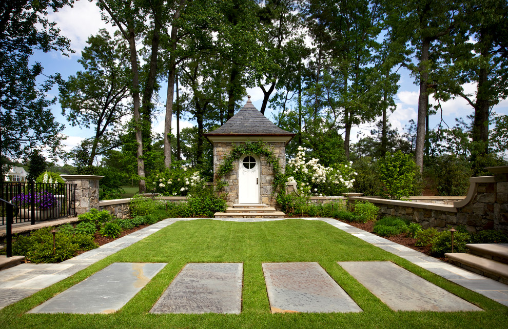 Photo of a traditional courtyard landscaping in Atlanta.