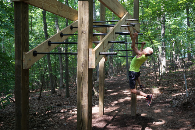 Obstacle Course - Industrial - Home Gym - dc metro - by Thinkterior LLC