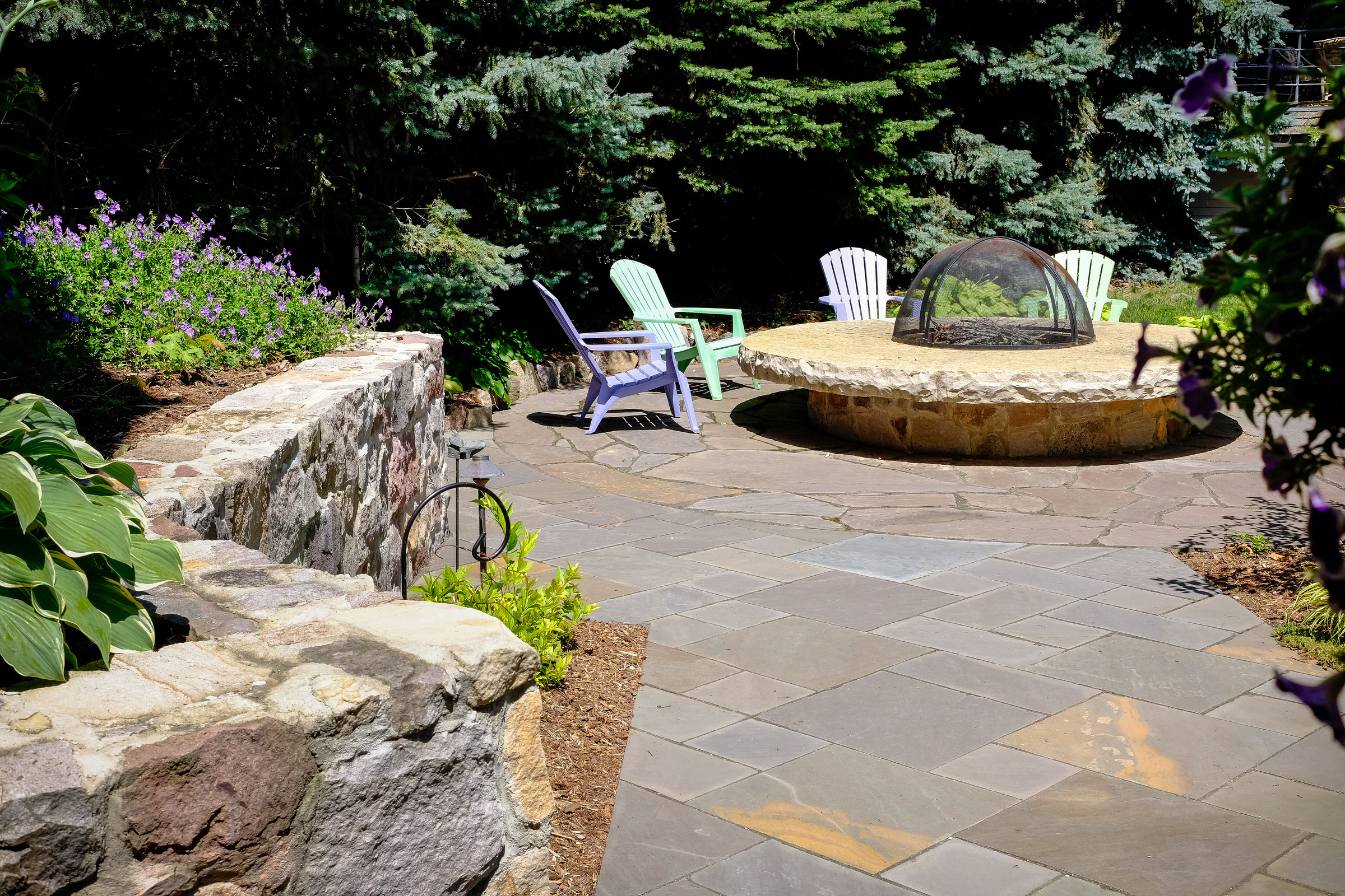 Contemporary Bluestone Patio - Oconomowoc
