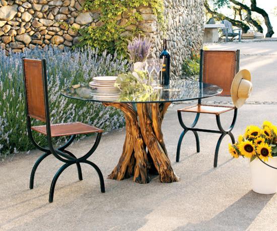 Perfect Old Vine Grapevine Dining Table Farmhouse Landscape