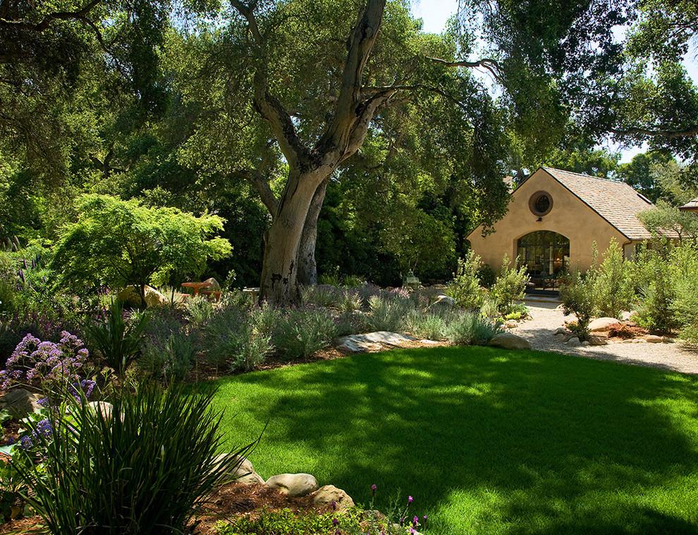 Photo of a mediterranean backyard landscaping in Santa Barbara.