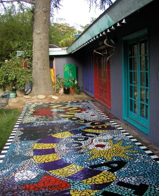 Once upon a time broken tile mosaic walkway - Basics mosaic tiles patios ...