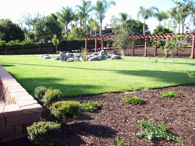 One acre landscape design project traditional for Garden design ideas half acre