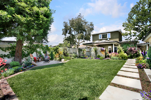 Orange County California Residential Landscape Design traditional landscape