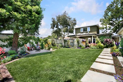 Orange County California Residential Landscape Design traditional landscape