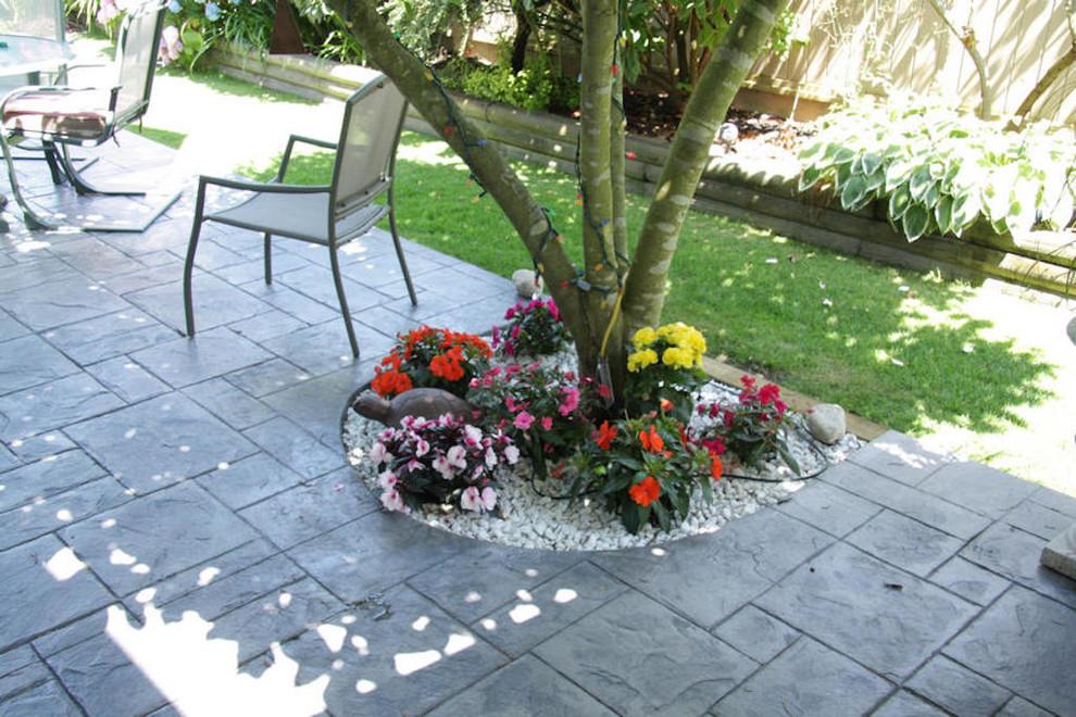 Ispirazione per un giardino tradizionale dietro casa
