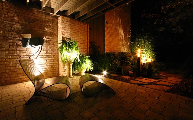 Outdoor Entrance Lighting Traditional Landscape