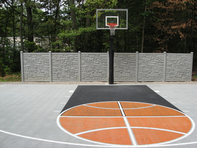 Backyard basketball half court dimensions 2017 2018 for Size of half court basketball court