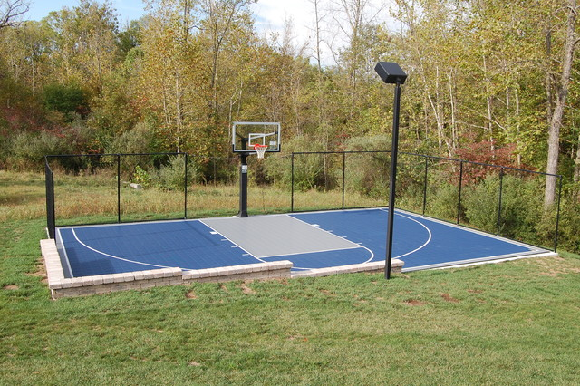 Outdoor half court basketball Backyard basketball courts